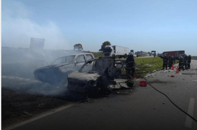 Siniestro víal en la Ruta 7: policías mercedinos en el triple choque
