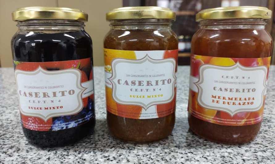 El CEPT N° 4 lanzó la elaboración y venta de sus dulces y mermeladas