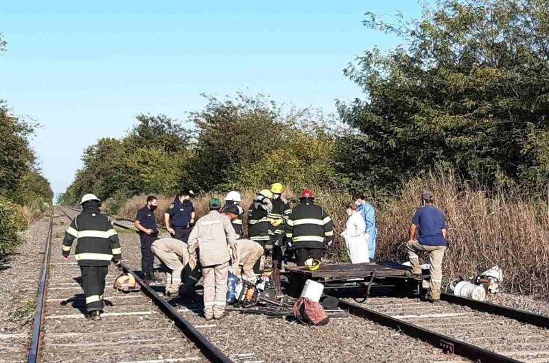 Dos operarios heridos en accidente ferroviario