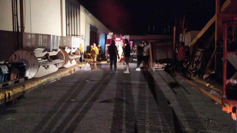 Incendio en fábrica Magromer