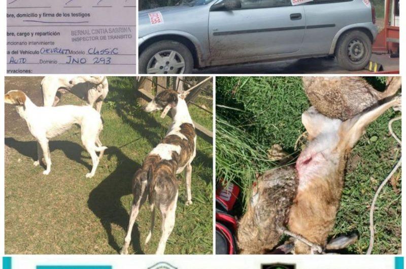 Detienen a dos personas por caza furtiva prohiba en la zona