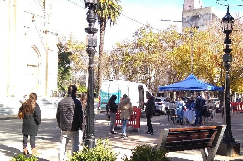 Continúan los testeos de covid en Plaza San Martín