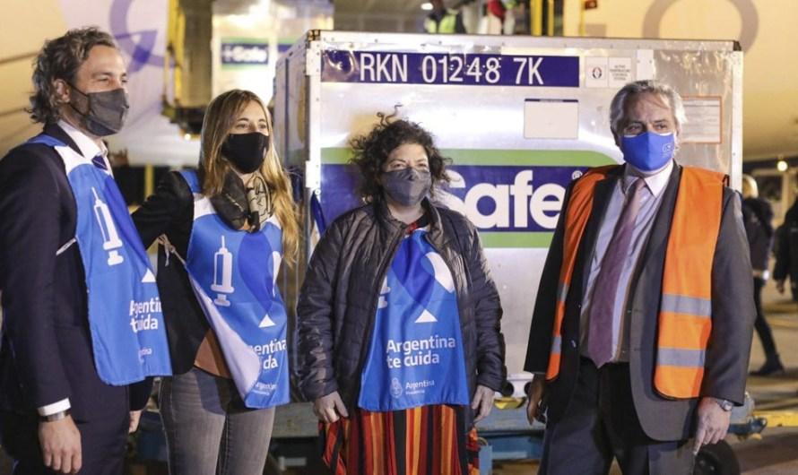 Llegan más vacunas y Argentina supera los 20 millones dosis