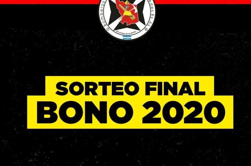 Bomberos: ganadores del sorteo final del bono 2020