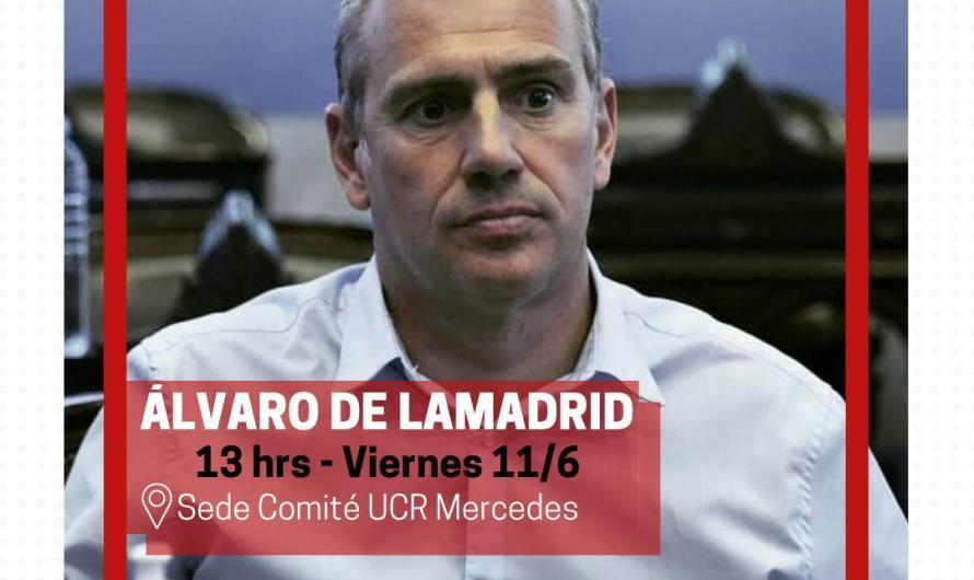 Diputado Álvaro de Lamadrid visitará Mercedes este viernes