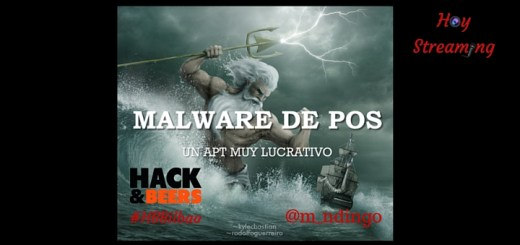 Malware de PoS conferencia en Hack and Beers Bilbao emitida por Hoy Streaming