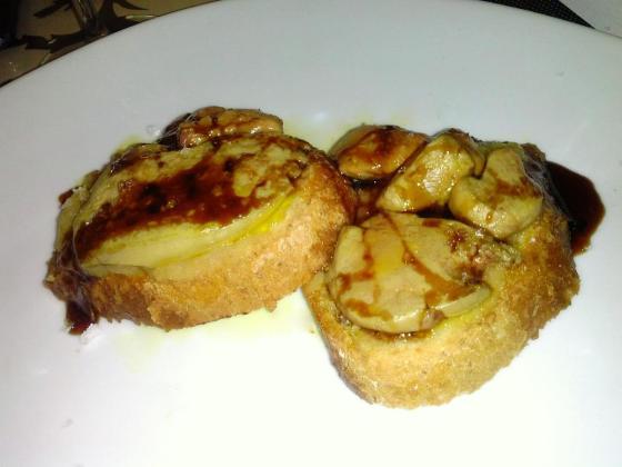 tosta de foie gourmet