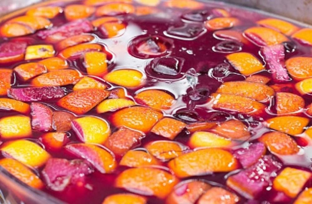 recipiente mezcla sangria vino