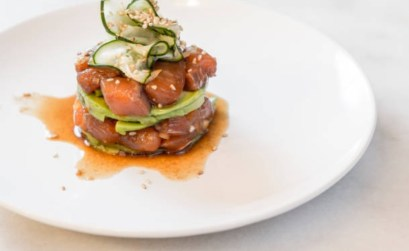 tartar de salmon y aguacate