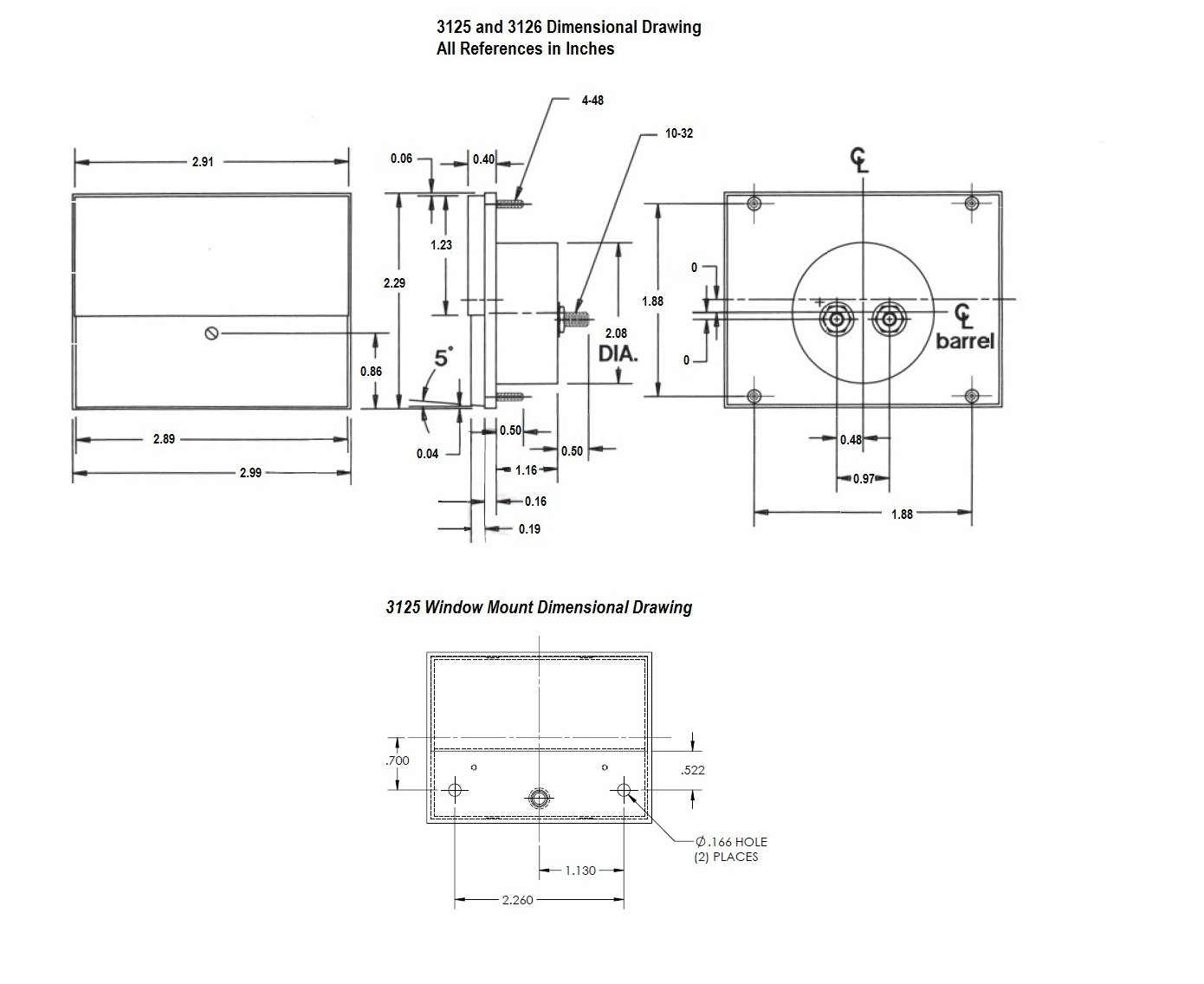 Series 2 5 Rectangular Dcog Panel Meter