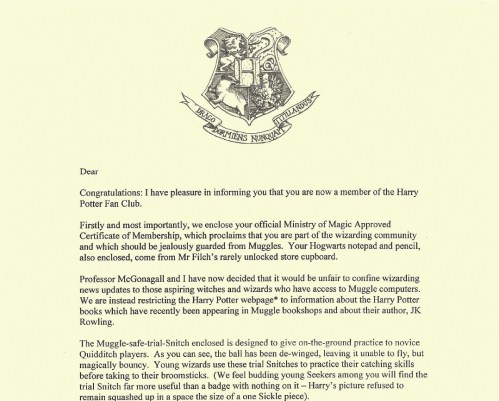 Traditional Harry Potter Letter Template New Student Newspaper