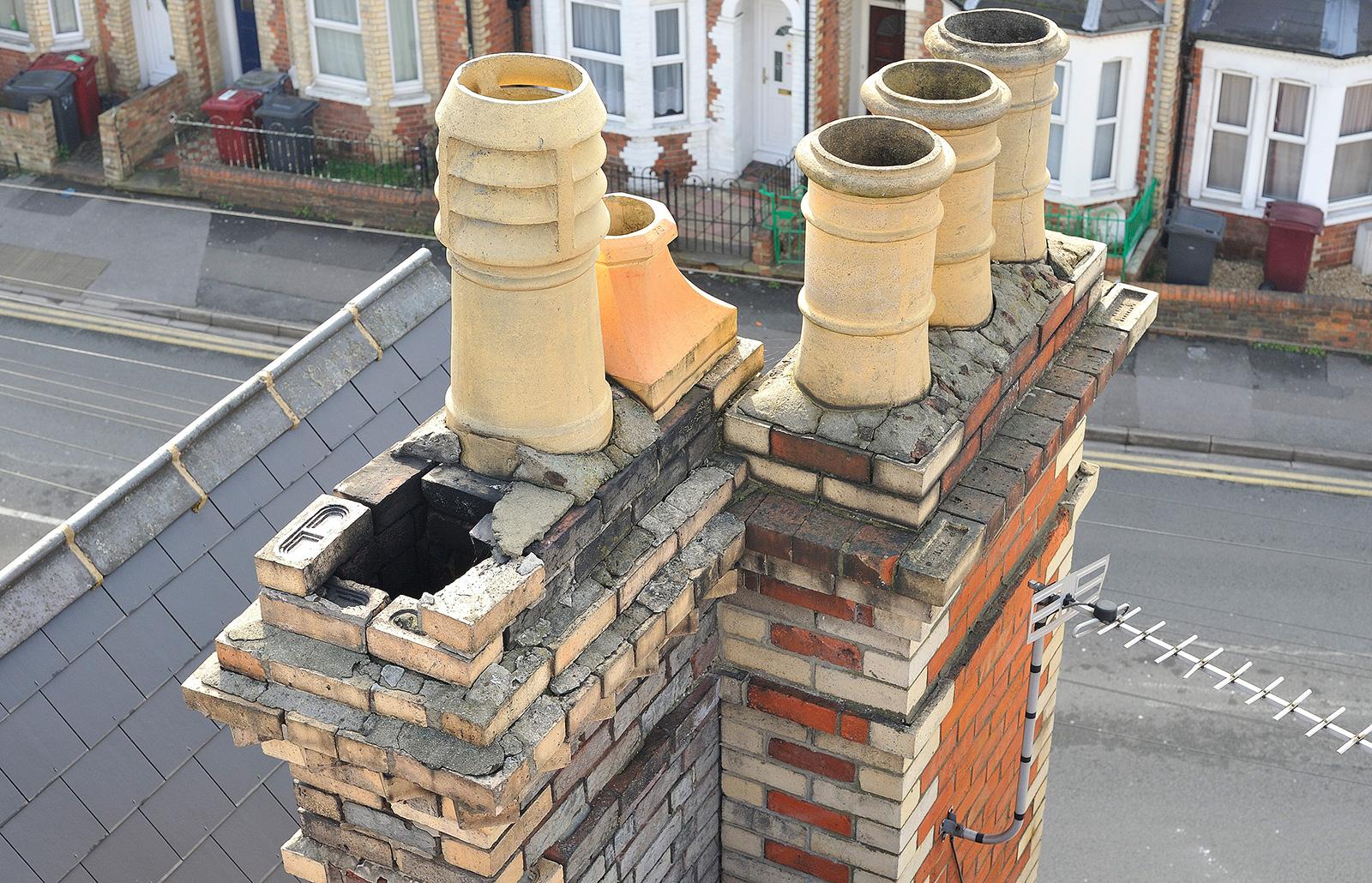 Missing chimney pot