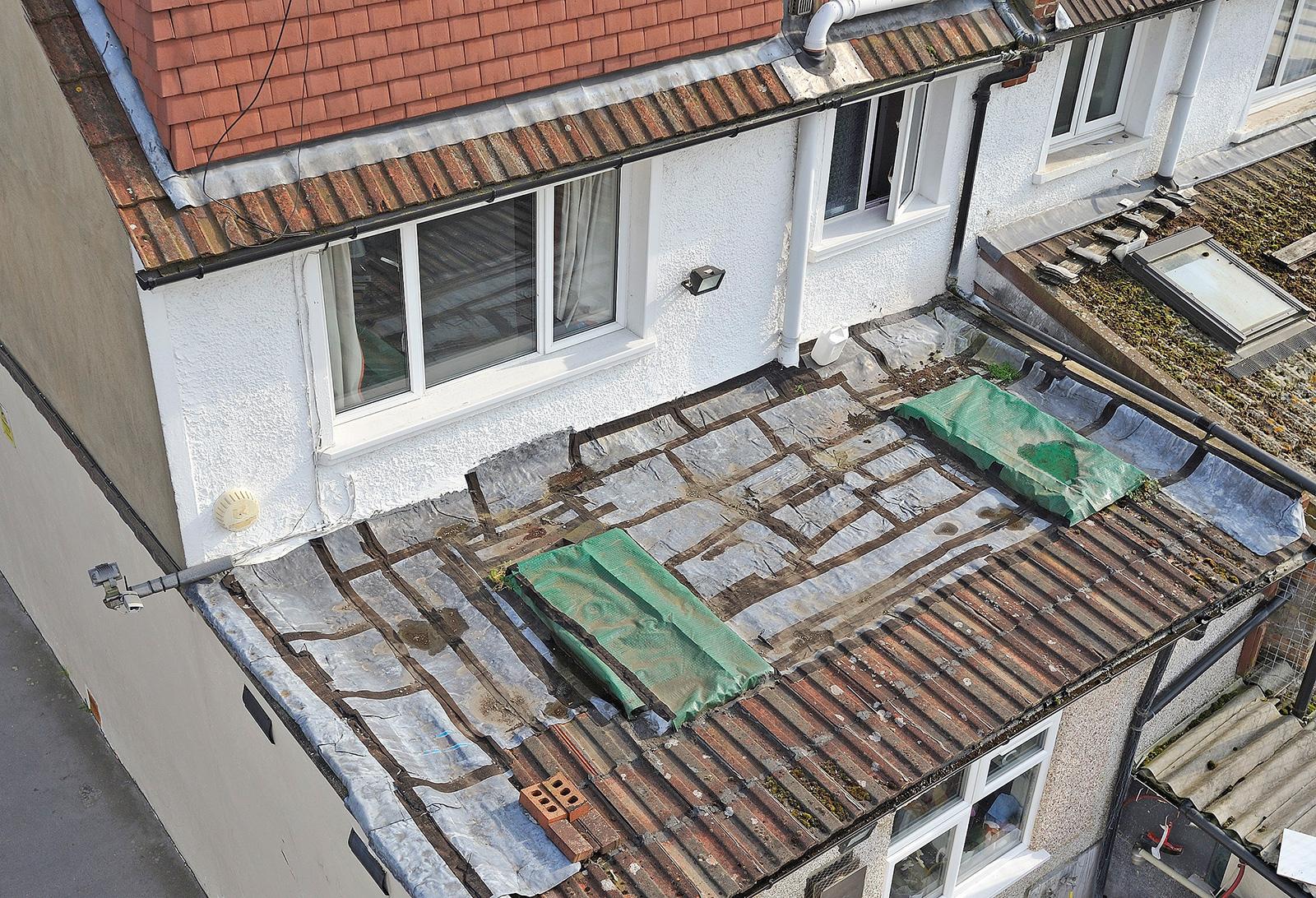 DIY repair on old roof