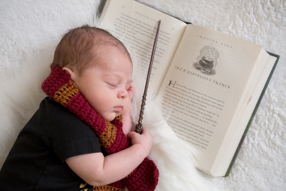 Harry potter themed newborn session