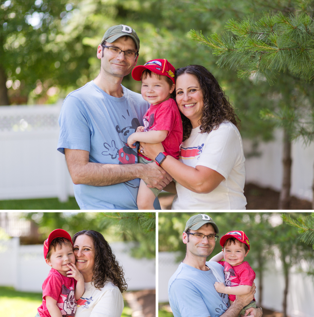family portraits at home