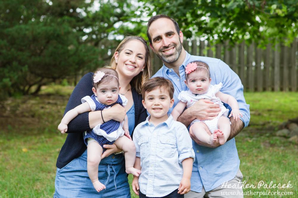 Family Portrait in back yard