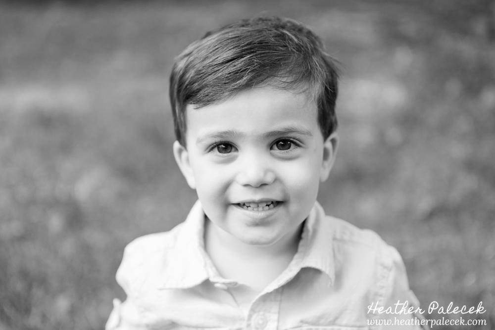 Portrait of a Boy at Backyard Photo Shoot