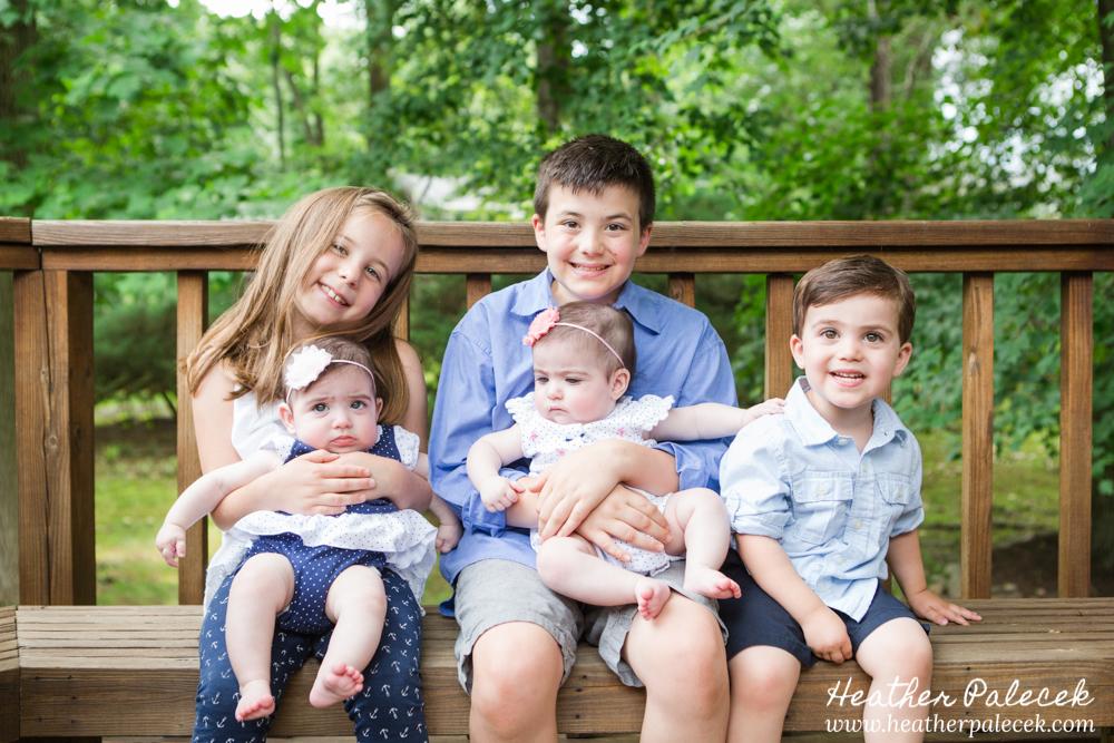 Family Portrait of all the grandchildren in back yard