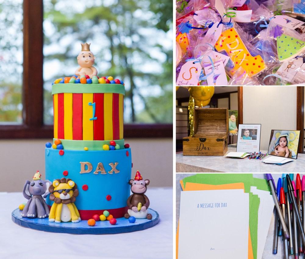 1st birthday cake and decor