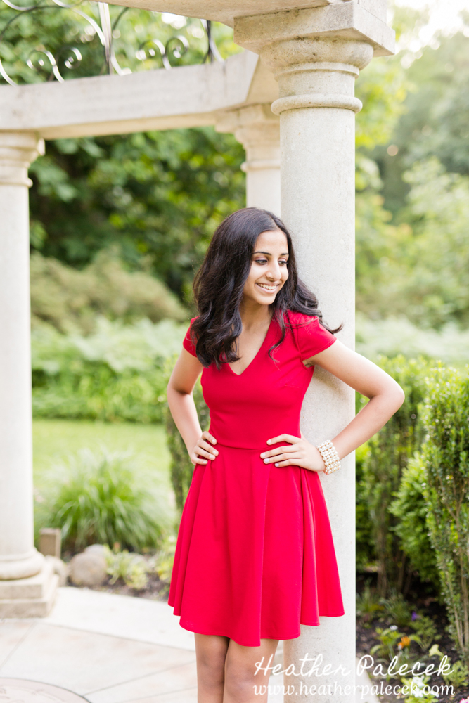 sweet sixteen portrait at gazebo at sayen gardens