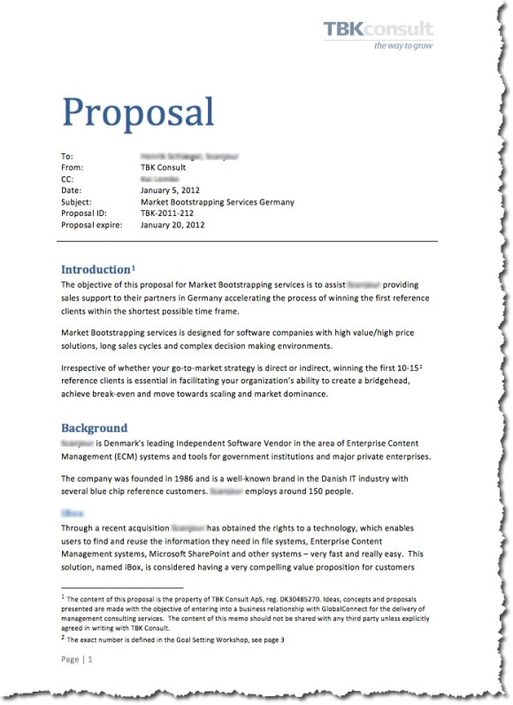 Writing A Business Proposal Template Business Books  Bank