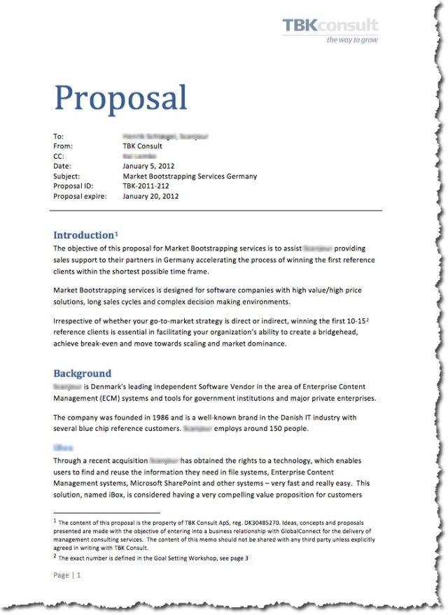 Proposal – Business