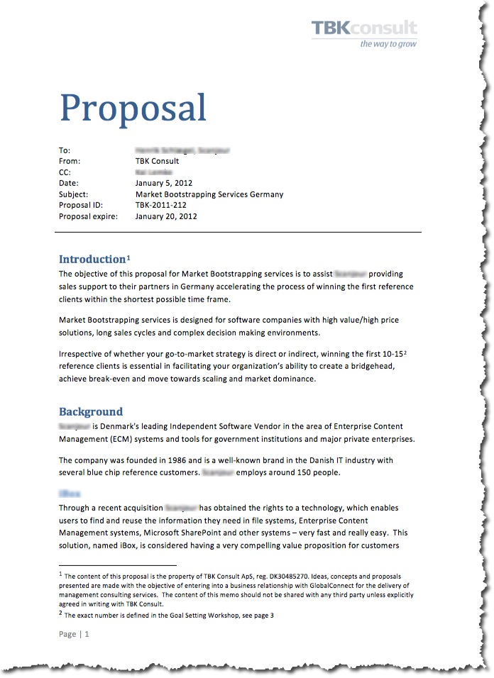 Writing A Business Proposal Template #business #books U2013 Bank. Proposal  Sample 1