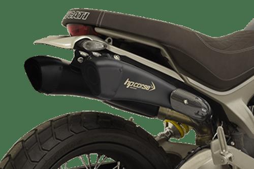 terminale doppio hydroform short new alto nero duc scrambler 1100 race