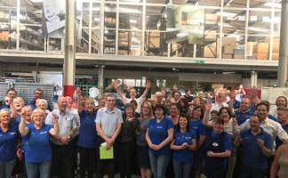Graham's retirement celebrated by staff at Thomas Dudley Ltd for his 49 years' service