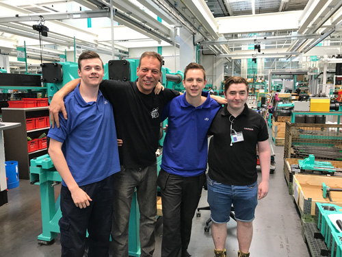 Arburg apprentices have seen first-hand how John Guest operates.