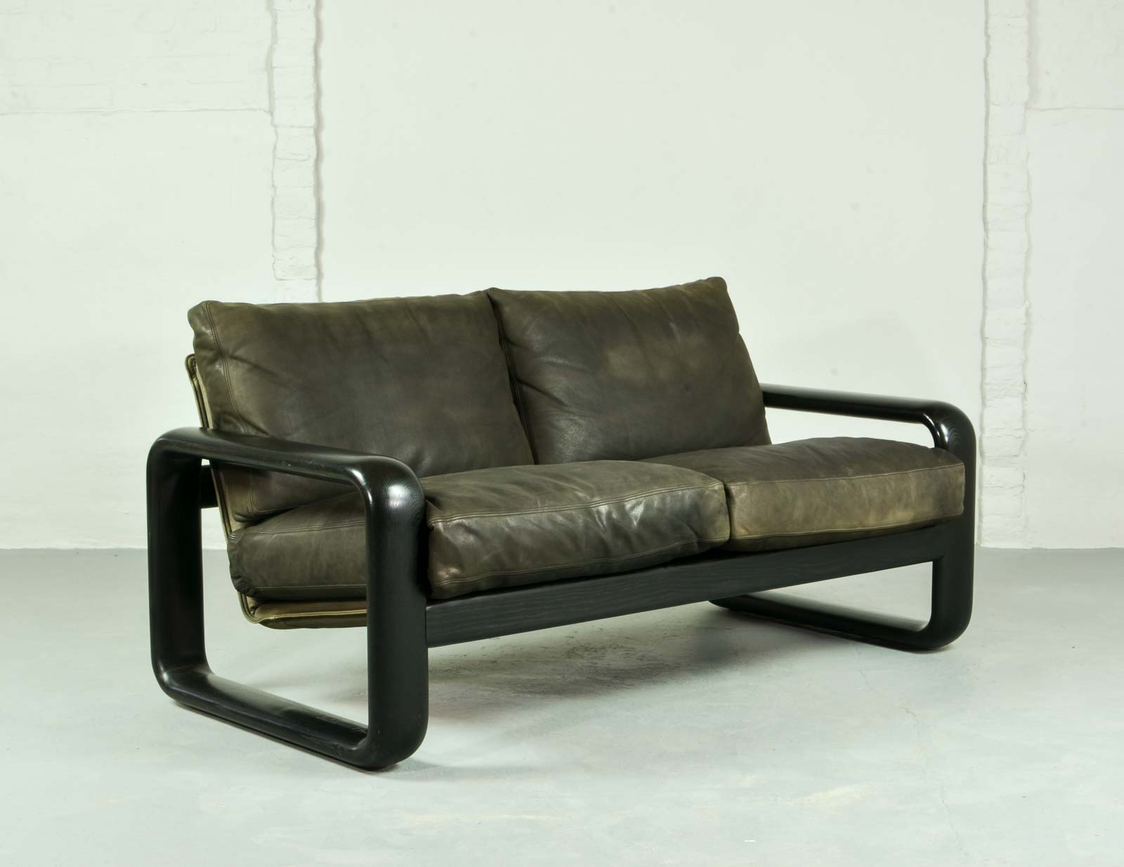 Mid Century Leather Sofa Hombre By Burkhard Vogtherr For Rosenthal Studio Line Hpvintage Com