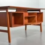 Gunni Omann Freestanding Office Writing Desk Model 75 In Teak Wood Denmark 1960s Ref Od009 Hpvintage Com