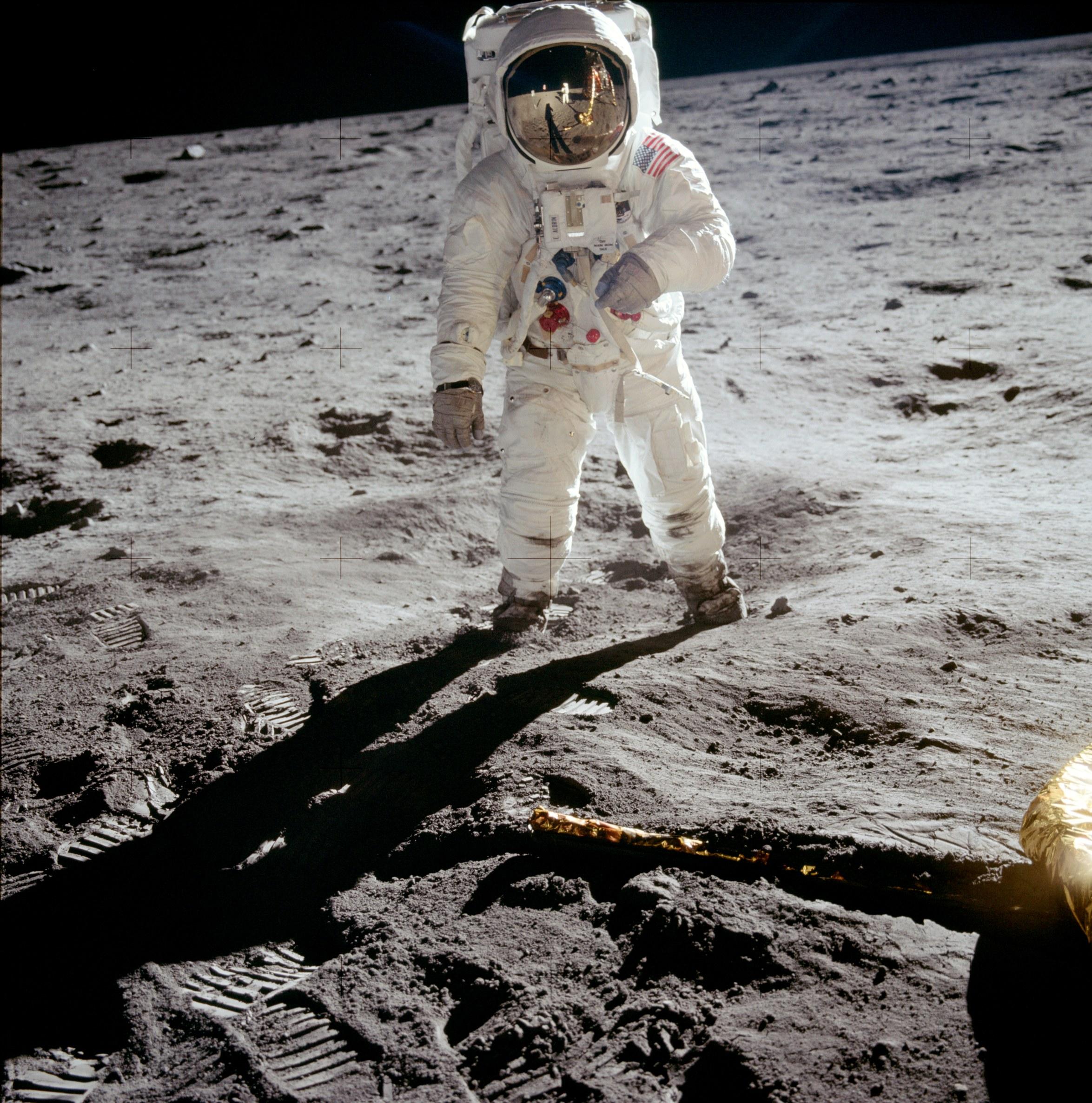 Buzz Aldrin on the Moon - 21 July 1969