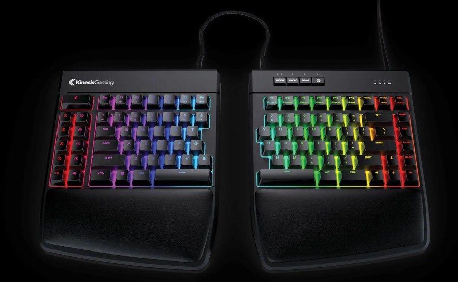 Mechanical gaming keyboards: Kinesis Freestyle Edge RGB Split
