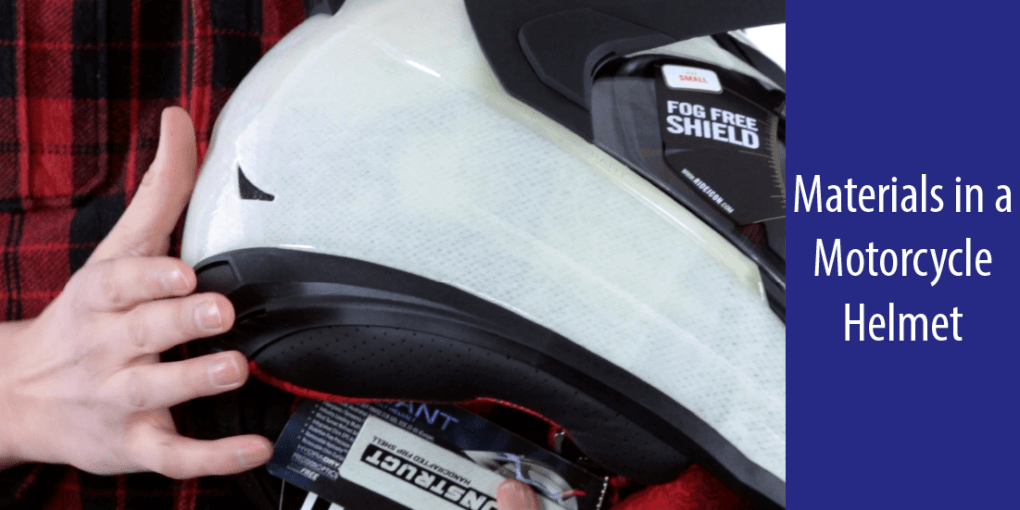 Materials in a Motorcycle Helmet