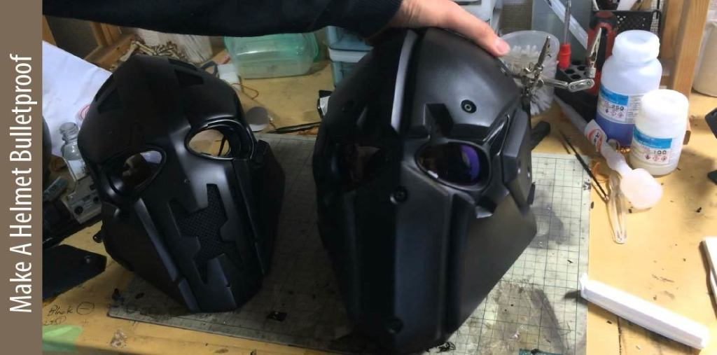 How to make motorcycle helmets bulletproof