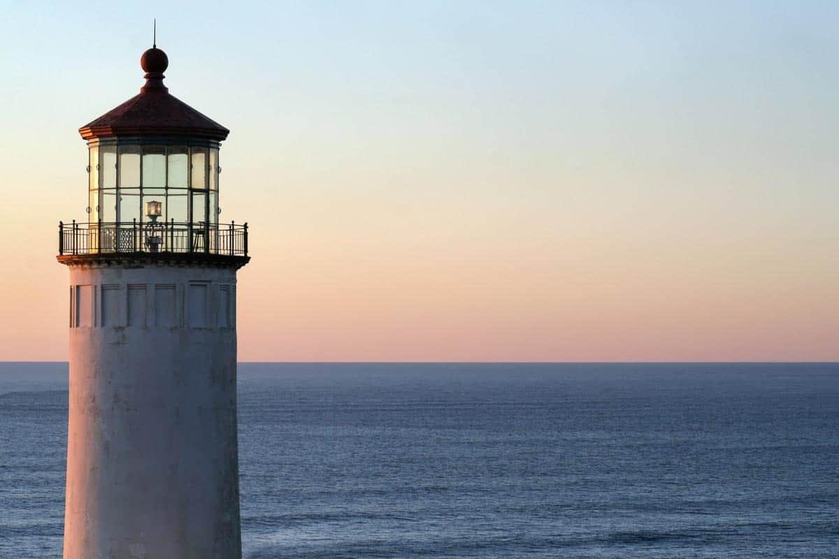 North Head Lighthouse at Dusk Photo
