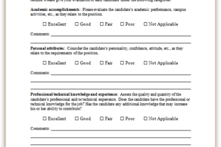 Best free fillable forms candidate interview evaluation form candidate interview evaluation form download all free our forms templates in ms word ms office google docs and other formats maxwellsz