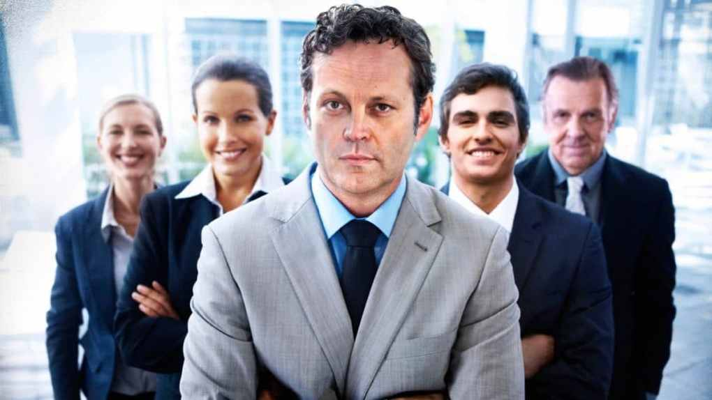 actor Vince Vaughn posing in a stock photo for Unfinished Business about recruitment skills