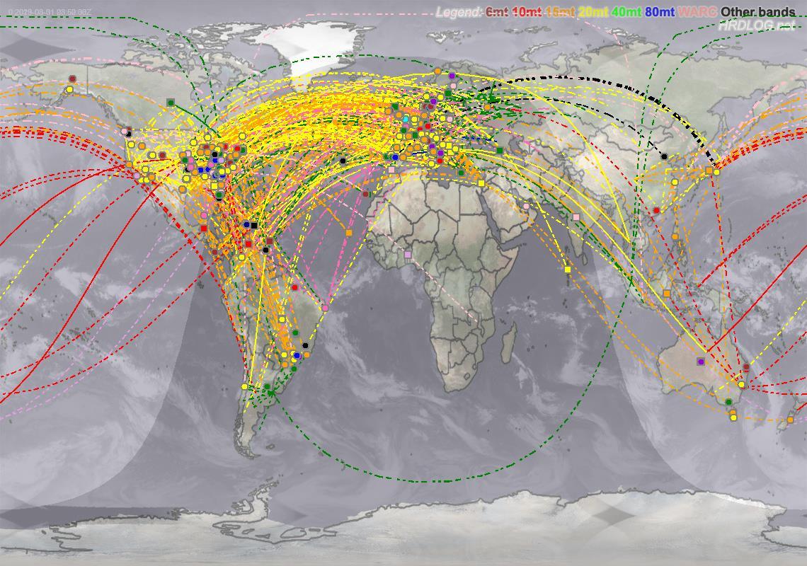 HS0ZLU DXCC Map