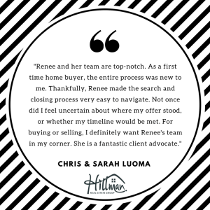 What Clients Say About Renee: Chris and Sarah Luoma
