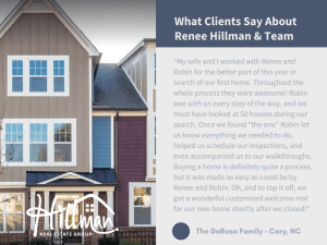 What Clients Say About Renee and Team: The DaRosa Family in Cary, NC