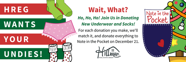 Hillman Real Estate Group Note in the Pocket Undie and Sock Drive