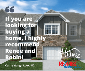 Review of Hillman Real Estate Group working with first time home buyers in Apex