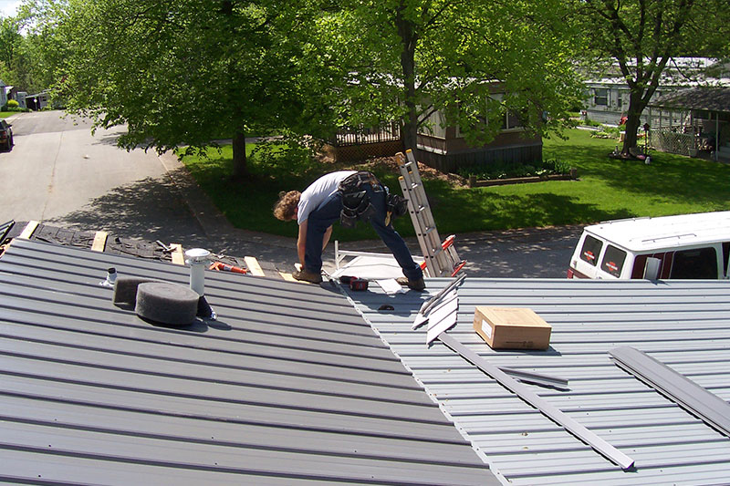 metal roof installation process