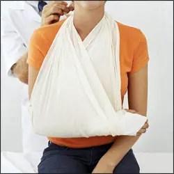 Worker fractured shoulder after fork lift truck fall