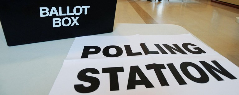 ballot box at EU referendum polling station