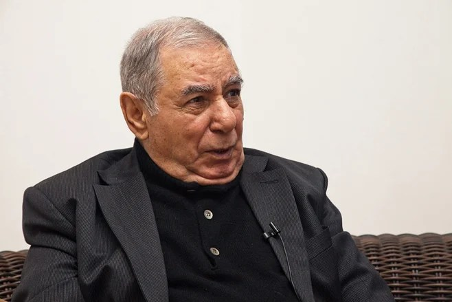 "<p>Akram Aylisli, Azerbaijani writer and author of the novel ""Stone Dreams"" in Baku, Azerbaijan, February 3, 2013.</p>"