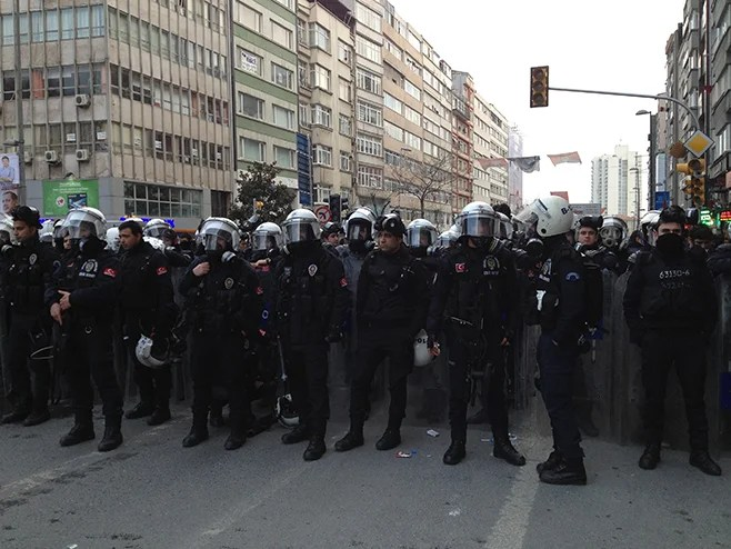<p>Police from the Rapid Deployment Unit in Istanbul, 2014.</p>