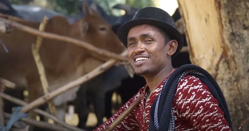 "Ethiopian singer Hachalu Hundessa in a still from the music video for his song, ""Maalan Jira""."